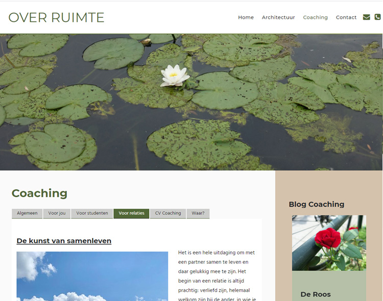 www.over-ruimte.nl | Website gemaakt door Websitemakerij in Amsterdam