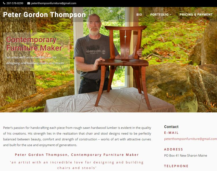 www.peterthompsonfurniture.com | Joomla website gemaakt door Websitemakerij in Amsterdam